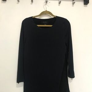 AllSaints Long Sleeve Blue and Black Dress